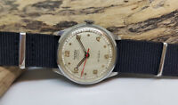 VINTAGE USED ROTARY MAXIMUS SILVER DIAL MILITARY AUTOMATIC MAN'S WATCH FIX LUGS