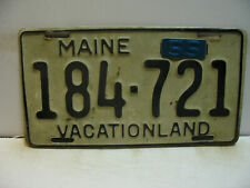 1955 Maine License Plate    184 - 721  VACATIONLAND  '55 clip tag'   as5161