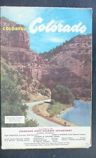 1951 Colorado official highway state road map Glenwood Canyon cover