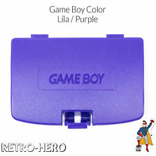 Game Boy Color GBC Akku Batterie Deckel Klappe Battery Cover fach - Lila