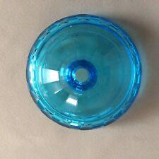 Ancien abat-jour en cristal bleu/ Ancient blue crystal lampshade