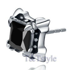 High Quality T&T 10mm 316L Stainless Steel Square Stud Earring Single (EZ35)