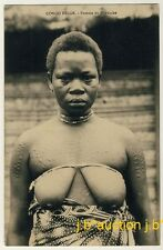 Belgian Congo MAYUMBE WOMAN w SCAR TATTOO / FRAU * Vintage 1910s Ethnic Nude PC