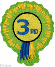 "3rd Rosette Embroidered Patch 6cm x 8cm (3"" X 2 1/2"") Sew On/ Iron On"