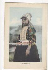 Marker Meisje Netherlands Vintage Postcard 227a