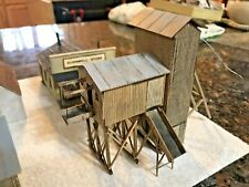 HO Scale Mining Community Built Structures Store Houses Church