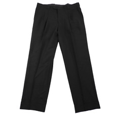 NWT $300 Versace Classic V2 100% Wool Black Pleated Dress Pants Men's Size 40x31