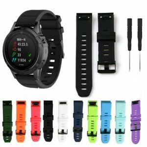 Silicone Watch Band Wristband Strap Bracelet For Garmin Fenix 5 5X 5S GPS Watch
