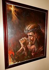 Artist, Victor Lee, Original Oil Painting, of Jesus, with Crown of Thorns.