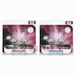 2 pc Philips High Beam Headlight Bulbs for Seat Alhambra Arona Ateca Cordoba ou