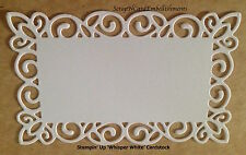 • • • Die Cuts ~ DAINTY RECTANGLE MATS #2 x7 ~ White ~ Stampin Up C/S  - Cards