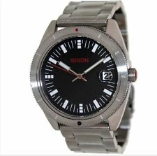 NIXON 42mm THE ROVER SS II Stainless Steel/Black Watch A359 008-00 NEW $225