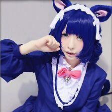 Hot Show By Rock!! Shian Cyan Cosplay Wig Anime Deep Blue Hair