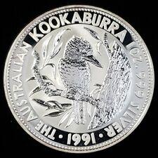New Listing1991 Australia $1 One Dollar Kookaburra 1oz .999 Silver Bullion Coin ®Aukb9172
