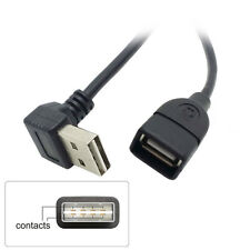 Design Up & Down Angle 90 degree USB 2.0 Male to Female Extension Cable 1m