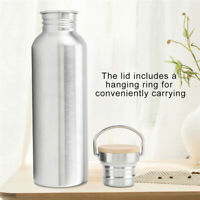 1L Sport Stainless Steel Water Bottle Travel Drink Cup Large Mouth Cycling Gym