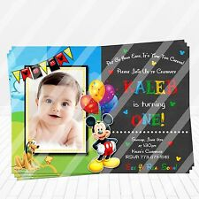 Mickey Mouse Clubhouse Birthday Invitations Print your own Digital Invitation