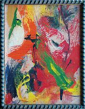 Orange Red Green Farbige Abstraktion, Öl-Gemälde 1990er Jahre Jozsef Toth *1944