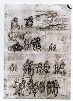 Carte Postale TINTIN. Crayonné planche du CRABE AUX PINCES D'OR. HORS COMMERCE