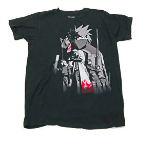 Shomen Jump Narvto Shippuden Black T Shirt US M
