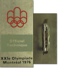 Olympic Games Montreal 1976. Participation badge pin