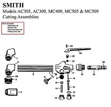 Smith Equipment Torch Repair/Rebuild Parts Kit MC505, MC509