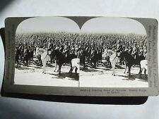 WW1 A BRISTLING FOREST OF BAYONETS. RUSSIAN TROOPS ON REVIEW KEYSTONE STEREOVIEW