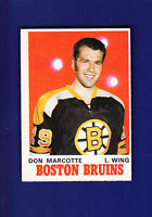 Don Marcotte RC 1970-71 O-PEE-CHEE OPC Hockey #138 (VGEX) Boston Bruins
