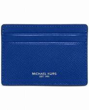 Michael Kors Electric Blue Mens Harrison Card Case ID Wallet Leather $58 271