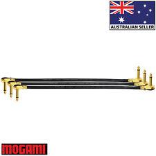 3 Units - 60cm Mogami 2524 - Guitar Effects Instrument Patch Cables - Z Shape