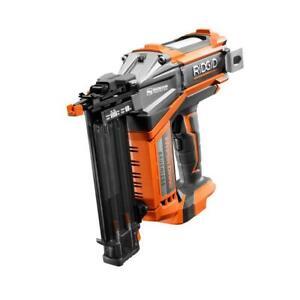 RIDGID Cordless Brad Nailer 18-Volt Brushless Motor Hex Grip (Tool Only)