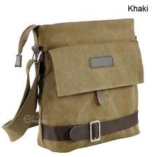 Men's Canvas Crossbody Hiking Military Messenger Sling Shoulder Bag Satchel New