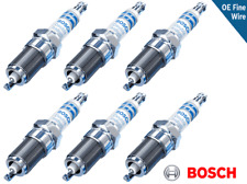 Set 6 Spark Plugs OEM Fine Wire Double Iridium Bosch ZR6SII3320 Benz 0041598103