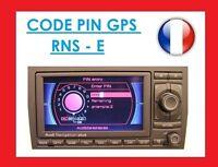 code pin pour autoradio rns e pour audi a3 s3 8p rns rnse rns-e modele 192