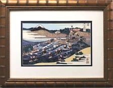 """Katsushika Hokusai """"Mt. Fuji from Kanaya"""" 1830 New Custom Framed Asian Art Japan"""