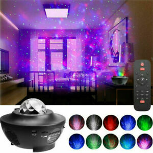 Galaxy Star Moon Cloud Projector Music Night Light Starry Ocean Wave Lamp Remote