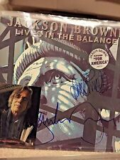 Jackson Browne hand signed record album with David Lindley autographed!!!