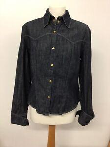 Versace Jeans Couture Shirt M Black Denim #3102
