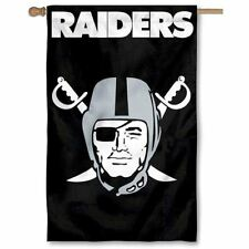 "Oakland Raiders Flag House Banner 28"" x 44"" Party Animal NFL"