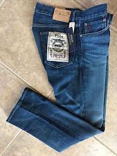 Polo Ralph Lauren Mens Jeans 36 x 30 Varick Slim Straight Davis Stretch Med NWT