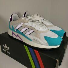 "Rare Adidas Originals Tresc Run White Purple 12 EH1352 ""Fresh Prince of Bel Air"""