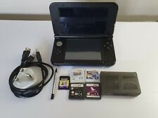 Nintendo 3DS XL Game Console  Blue/Black 4 Games 4GB & Charger