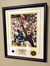 Shaquille O'Neal L.A. Lakers 2000 NBA Finals Photo and Game Worn Jersey Patch