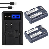 2x BP-511A  BP511 Cam Battery + LCD USB Charger for Canon EOS 300D 30D 40D 50D