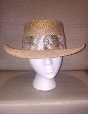 Ladies Straw Hat by Gth Golf & Tennis Headwear Co. Versatile Sturdy Airy Stylish