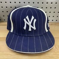 New York Yankees MLB New Era 59FIFTY Fitted Sz 7-3/8 Pinstripe Hat Baseball Cap