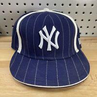 New York Yankees MLB New Era 59FIFTY Fitted Sz 7-3/8 Pinstripe Hat Baseball Cap