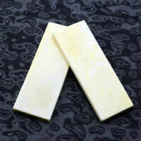2PCS Bovine Bone Knife Handle Sword Gun Scale Slab Making Supplies Material New