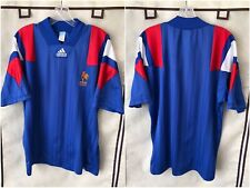France 1992/94 Home International Soccer Jersey Large Adidas RARE