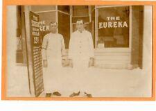 Real Photo Postcard - Eureka Restaurant & Signboard